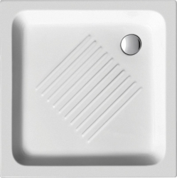 Keramická sprchová vanička, čtverec 80x80x10cm (438011) - GSI