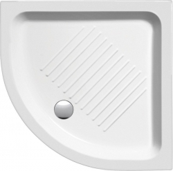 Keramická sprchová vanička, čtvrtkruh 80x80x11cm, R550 (448011) - GSI