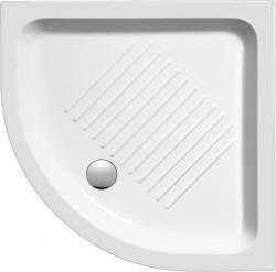 Keramická sprchová vanička, čtvrtkruh 90x90x12cm, R550 (449011) - GSI