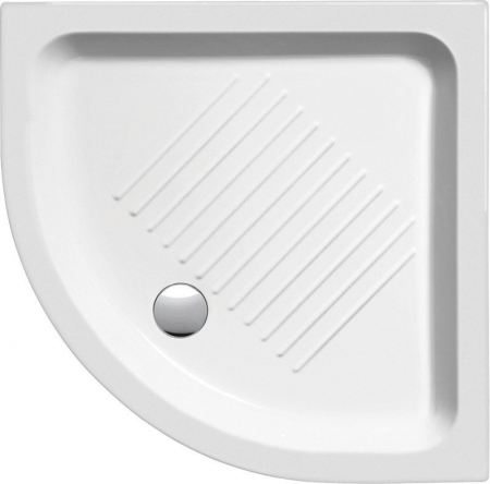 GSI - Keramická sprchová vanička, čtvrtkruh 90x90x12cm, R550 (449011)