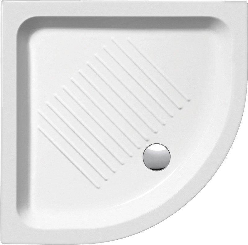 Keramická sprchová vanička, čtvrtkruh 90x90x12cm, R550 (449011)