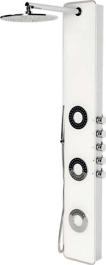 IDESK sprchový panel 1550x250mm, bílé sklo (WN765)