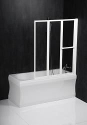 POLYSAN - LANKA3 pneumatická vanová zástěna 1210mm, bílý rám, čiré sklo (35117)