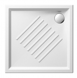 Keramická sprchová vanička, čtverec 90x90x6cm (339711) - GSI