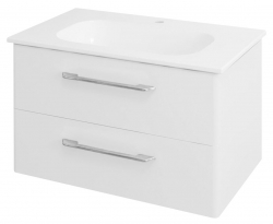 SAPHO - PURA umyvadlová skříňka 77x50,5x48,5cm, bílá (PR081)