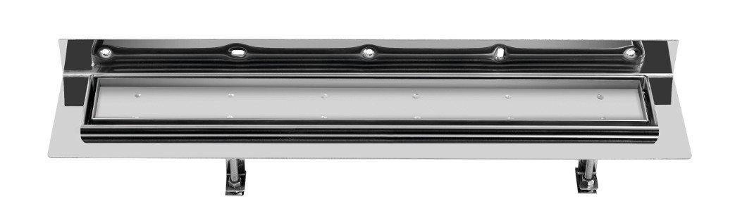 CORNER 77 nerezový sprchový kanálek s roštem pro dlažbu, ke zdi 770x130x82 mm (FP513) SAPHO