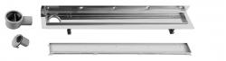 SAPHO - CORNER 97 nerezový sprchový kanálek s roštem pro dlažbu, ke zdi 970x130x82 mm (FP538), fotografie 2/3