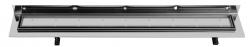 SAPHO - CORNER 97 nerezový sprchový kanálek s roštem pro dlažbu, ke zdi 970x130x82 mm (FP538), fotografie 4/3
