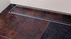 SAPHO - CORNER 97 nerezový sprchový kanálek s roštem pro dlažbu, ke zdi 970x130x82 mm (FP538), fotografie 6/3