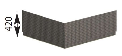 POLYSAN - CARMEN TIFA panel rohový (29919)