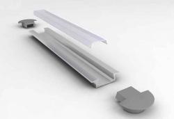 Sapho Led - LED zápustný profil 22x6mm, eloxovaný hliník, 1m (KL3775-1), fotografie 8/5