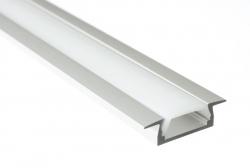 Sapho Led - LED zápustný profil 22x6mm, eloxovaný hliník, 1m (KL3775-1), fotografie 10/5