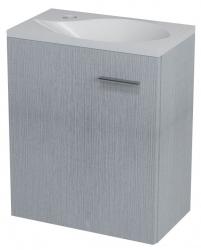SAPHO - LATUS II umyvadlová skříňka 41,6x50x25 cm, dub stříbrný (LT210)