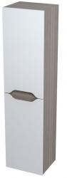 SAPHO - WAVE skříňka vysoká s košem 35x140x30cm, pravá, bílá/mali wenge (51245P)