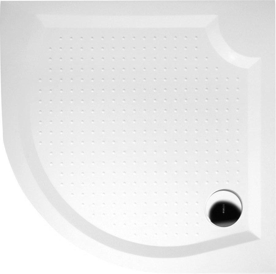 GELCO VIVA100 sprchová vanička z litého mramoru, čtvrtkruh 100x100x4cm, R550 GV551