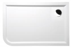 POLYSAN - STYX R sprchová vanička z litého mramoru, obdélník 120x80x4cm, pravá, bílá (68611)