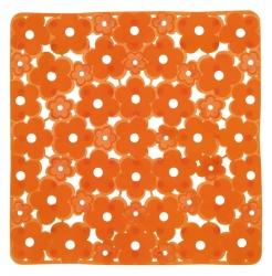 AQUALINE - MARGHERITA podložka do sprchového koutu 51,5x51,5cm s protiskluzem, PVC,oranžová (975151P4)