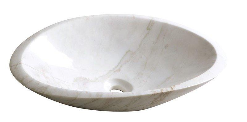 BLOK 16 kamenné umyvadlo 58x14x38 cm, bílý mramor, leštěný (2401-22)
