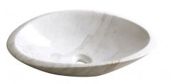 SAPHO - BLOK 16 kamenné umyvadlo 58x14x38 cm, bílý mramor, leštěný (2401-22)