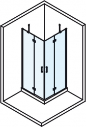 POLYSAN - VITRA LINE zástěna, čtverec s rohovým vstupem 800x800mm, čiré sklo (BN1515), fotografie 10/8