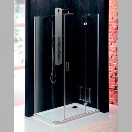 POLYSAN - VITRA LINE zástěna, obdélník, zaoblený roh 1200x800mm, pravá, čiré sklo (BN2315R)
