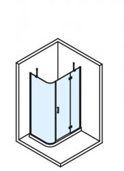 POLYSAN - VITRA LINE zástěna, obdélník, zaoblený roh 1200x800mm, pravá, čiré sklo (BN2315R), fotografie 4/4