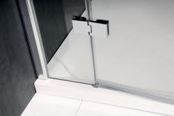 POLYSAN - VITRA LINE sprchové dveře 1400mm, pravé, čiré sklo (BN4115R), fotografie 2/4