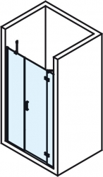 POLYSAN - VITRA LINE sprchové dveře 1600mm, pravé, čiré sklo (BN4315R), fotografie 4/4