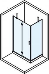 POLYSAN - VITRA LINE zástěna, obdélník 1000x900mm, levá, čiré sklo (BN8215L), fotografie 4/4