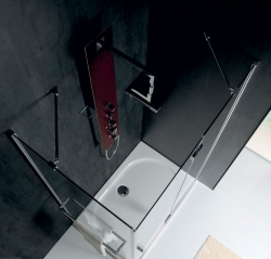 POLYSAN - VITRA LINE zástěna, obdélník 1100x900mm, pravá, čiré sklo (BN5815R), fotografie 6/8