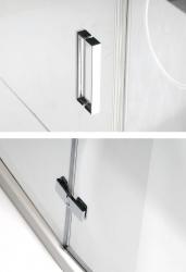 POLYSAN - VITRA LINE zástěna, obdélník 1100x900mm, pravá, čiré sklo (BN5815R), fotografie 2/8