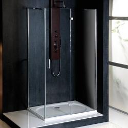 POLYSAN - VITRA LINE zástěna, obdélník 800x900mm, pravá, čiré sklo (BN8015R)