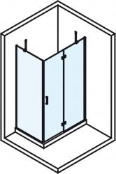 POLYSAN - VITRA LINE zástěna, obdélník 800x900mm, pravá, čiré sklo (BN8015R), fotografie 4/4
