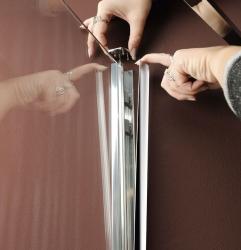 POLYSAN - VITRA LINE zástěna, obdélník 800x900mm, pravá, čiré sklo (BN8015R), fotografie 2/4