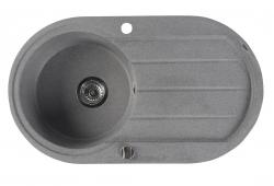 SAPHO - Dřez granitový vestavný s odkapávací plochou, 86x50 cm, šedá (GR1203)