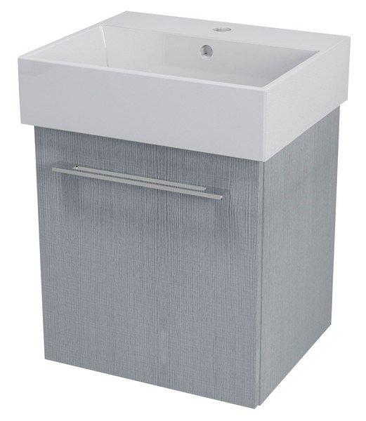 NATY umyvadlová skříňka 46,5x50x40cm, dub stříbrný (NA053)