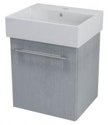 SAPHO - NATY umyvadlová skříňka 46,5x50x40cm, dub stříbrný (NA053)