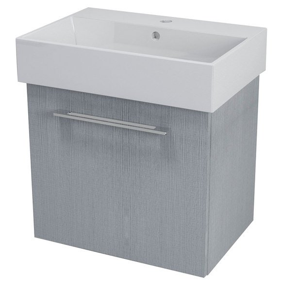 SAPHO NATY umyvadlová skříňka 56,5x50x40cm, dub stříbrný NA063