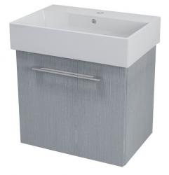 SAPHO - NATY umyvadlová skříňka 56,5x50x40cm, dub stříbrný (NA063)
