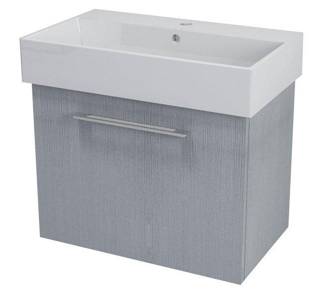 SAPHO NATY umyvadlová skříňka 66,5x50x40cm,dub stříbrný NA073