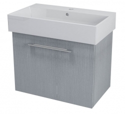 SAPHO - NATY umyvadlová skříňka 66,5x50x40cm,dub stříbrný (NA073)