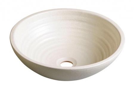 SAPHO - ATTILA keramické umyvadlo, průměr 46,5 cm, slonová kost (DK015)