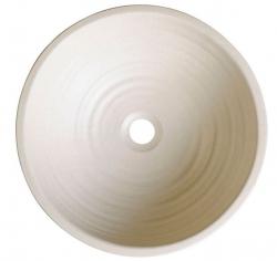 SAPHO - ATTILA keramické umyvadlo, průměr 46,5 cm, slonová kost (DK015), fotografie 2/3