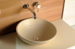 SAPHO - ATTILA keramické umyvadlo, průměr 46,5 cm, slonová kost (DK015), fotografie 6/3