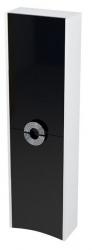 SAPHO - AVEO skříňka vysoká 40x140x20cm, pravá, bílá /černá (AV147)