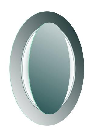 SAPHO - MONA zrcadlo s LED osvětlením 700x1000mm, bílá (DL440)