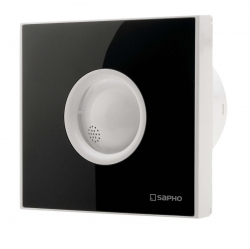 SAPHO - LITE koupelnový ventilátor axiální s časovačem, 15W, potrubí 100mm, černá (LT104)