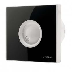 SAPHO - LITE koupelnový ventilátor axiální, 15W, potrubí 100mm, černá (LT103)
