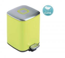 SAPHO - REGENT Odpadkový koš 6l, Soft Close, nerez mat, zelená (DR321)