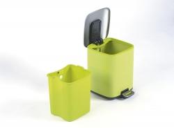 SAPHO - REGENT Odpadkový koš 6l, Soft Close, nerez mat, zelená (DR321), fotografie 2/2